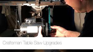update craftsman table saw upgrades