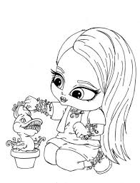 Small Picture Beautiful Girls Coloring Pages Monster High Gallery Coloring