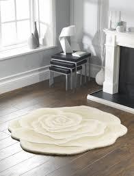 ivory white rose rug