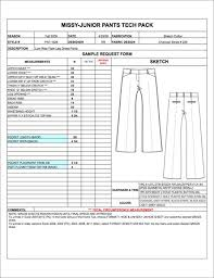 product spec sheet template fashion apparel tech pack templates my practical skills my
