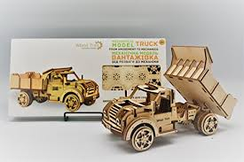 wood trick american truck jeep mechanical models 3d wooden puzzles diy toy assembly gears constructor kits