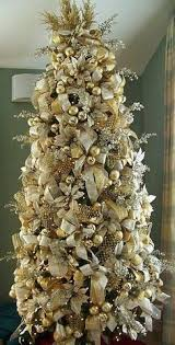 Gold Ivory Christmas Tree - doing this in my Master Bedroom on a thin width  tree!