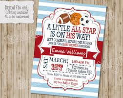 All Star Baby Shower Ticket Invitation Itu0027s A Boy SportsBaby Shower Invitations Sports Theme
