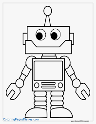 coloring pages draw robots