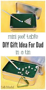 diy office gifts. Mini Pool Table In A Tin Diy Office Gifts O