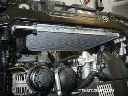 bmw e cooling system overhaul bmw e46 cooling system overhaul new radiator installed in a car