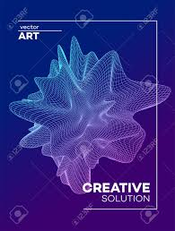 Science Poster Background Trendy Abstract Poster Background With Dynamic Particles Shape