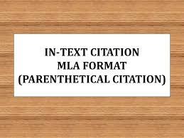 Mla Format For Intext Citations Ppt In Text Citation Mla Format Parenthetical Citation