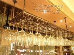 hanging wine glass rack 1 3 row stainless steel