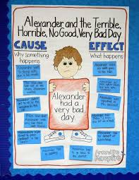 cause and effect alexander and the terrible horrible no  cause and effect alexander and the terrible horrible no good very bad day