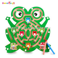 Wooden Maze Games Best Sale Magnetic Brush Maze Labyrinth Brush Ball Magnetic 80