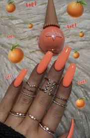 Neon Nail Designs Pinterest Pinterest Nandeezy In 2019 Neon Nail Designs Orange