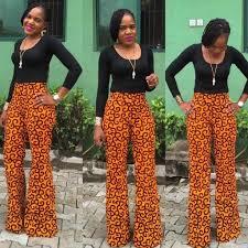 African Trousers Designs Best Ankara High Waist Trousers 2019 African Fashion