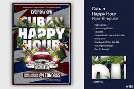 Happy Hour Flyer Salsa Tropical Cuban Flyer Template Psd Design For Photoshop
