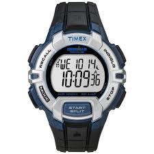 timex men s t5k791 ironman 30 lap rugged sports running fitness timex ironman men s black blue resin indiglo digital watch t5k791 new