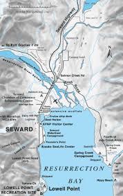 Resurrection Bay Chart Map Of Seward Alaska And Upper Resurrection Bay Seward