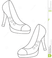 lady s shoes coloring page useful as coloring book for kids