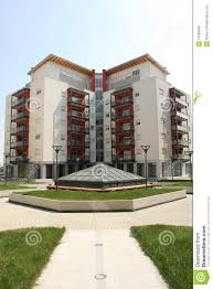 Modern Apartment Building Stock Photo Image Of Architectural
