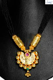 22k gold plated half moon pendant big pipe manchali