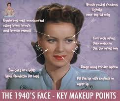 1940s face key makeup points