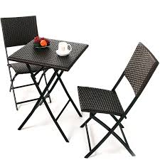 Amazon.com: Grand Patio Parma Rattan Patio Bistro Set, Weather Resistant  Outdoor Furniture Sets with Rust-proof Steel Frames, 3 Piece Bistro Set of  Foldable ...
