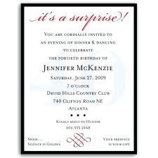 Free Surprise Birthday Party Invitations Moontex Co