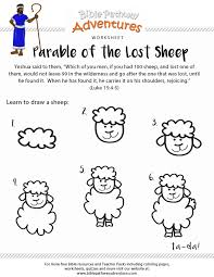 Parable of the Lost Sheep worksheet   Free bible, Worksheets and ...