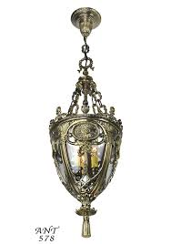 victorian neoclassical entry pendant fixture with candle lights ant 578