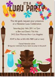 Hawaiian Pool Party Invitations Luau Party Invitations To Inspire You How To Make The Party