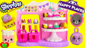 Shopkins Frosted Cupcake Queen Cafe With Happy Places Youtube