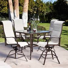 garage attractive 5 piece patio bar set