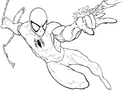 coloring page spiderman superheroes 51 printable coloring pages