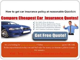 Compare Car Insurance Quotes Inspiration Cheap Car Insurance Online Compare Car Insurancereducemycarinsuranc