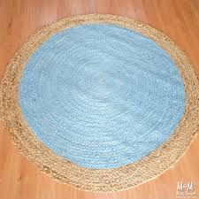 image of round blue rug color