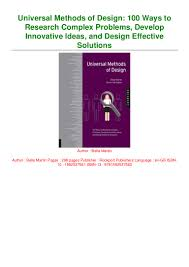 Complex Design Problems Read Book Universal Methods Of Design 100 Ways To