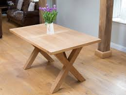provence cross leg oak dining table