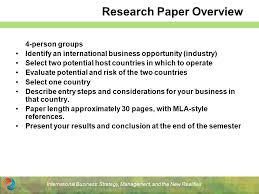 international business strategy management and the new  4 international business strategy management and the new realities research paper