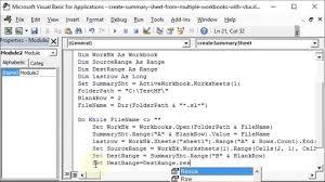 Create Summary Sheet From Multiple Workbooks With Vba Youtube