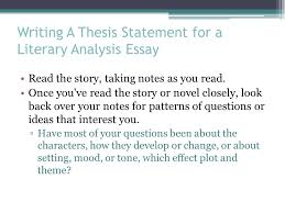 the literary analysis essay ppt video online writing a thesis statement for a literary analysis essay