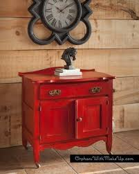 red furniture ideas. DIY Chalk Paint Furniture Ideas With Step By Tutorials - Red Antique Wash Stand