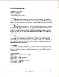 Bank Proposal Template Sample Project Proposal For Bank Loan