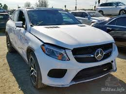 Gleaming chrome vertical struts and the the result: Mercedes Benz Gle 450 4matic 2017 White 3 0l 6 Vin 4jged6eb6ha059840 Free Car History