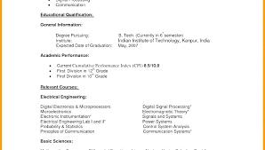 Undergraduate College Resume Template College Resume Template