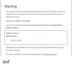 Warning Our Content Monitors Have Determined That Your Behavior At
