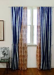 stripe toile window curtains window treatment window by ichcha