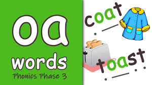 Worksheet for (very) young learners who have just started reading. Oa Words Blending Phonics Phase 3 Youtube