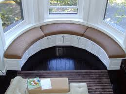Fantastic Curved Window Seat eclectic