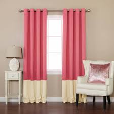 Pink Curtains For Bedroom Cu Curtains With Grommets At Walmart