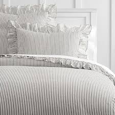 white duvet cover twin xl. Perfect Cover The Emily U0026 Meritt Ruffle Stripe Duvet Cover TwinTwin XL CharcoalIvory In White Cover Twin Xl I