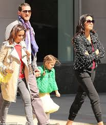Padma Lakshmi and Adam Dell with daughter Krishna after custody battle |  Daily Mail Online